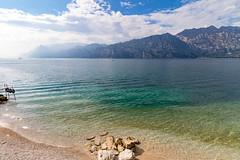 Lago di Garda Spiaggia (Alessandro Casagrande Photographer) Tags: montagne canon lago garda strada riva blu vista sassi rocce acqua malcesine trentino lungolago pessaggio