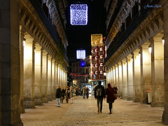 Luces Navideas 2015. Calle Ciudad Rodrigo (Madrid) (Juan Alcor) Tags: madrid navidad luces calle nocturno ciudadrodrigo lucesnavideas