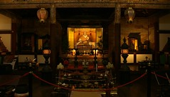 Daikakuji-temple at night / Miedo Hall (inside) (maco-nonch★R(on/off)) Tags: 京都 大覚寺 daikakuji temple japanese emperor 天皇 後水尾天皇 statue 特別拝観 特別公開 京 kyoto kioto sagano 嵯峨野 tempel night 夜 shot traditional manual allmanual manualexposure