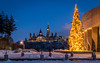 Tree at Museum of History : January 8, 2017 (jpeltzer) Tags: ottawa winter gatineau museumofhistory parliament parliamenthill peacetower christmaslights christmas christmastree