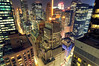 Renee's View III, Midtown Manhattan at Night, NYC (itscashtro) Tags: tokina1224 timessquare dreamhotel broadway rockefellercenter nyc night city newyork manhattan midtown longexposure skyline cityscape nikoncapturenx nikond90