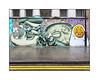 Street Art (Tony Boy, Egg Cru), East London, England. (Joseph O'Malley64) Tags: tonyboy eggcru streetart urbanart graffiti eastlondon eastend london england uk britain british greatbritain art artists artistry artworks murals muralists christmas2016 brickwork bricksmortar pointing windows steelsecuritymesh windowledge lamppost pavement granitekerbing tarmac doubleyellowlines noparkingatanytime parkingrestrictions rain wet damp overcast urban urbanlandscape aerosol cans spray paint