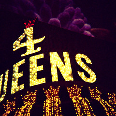 4 queens / xpro. las vegas, nv. 2014. (eyetwist) Tags: eyetwistkevinballuff eyetwist night lasvegas sign neon fremontstreet downtown casino 4queens horseshoe binions bottled liquor booze nevada diana plasticcamera toycamera xpro fuji provia 400 rhp crossprocessed crossprocess fujichrome dianaf dianaf11 ishootfilm analog analogue film emulsion square mediumformat 120 filmexif iconla epsonv750pro lenstagger toy plastic lores dianacamera vintage camera plasticlens vignette lomography grain 2014 type typography typographic graphic lettering bulbs electric dark saturated