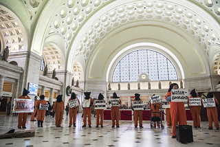 Brian Terrell Speaks at an Anti-Torture Demonstration in Union Station