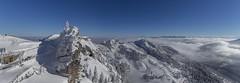 Panorama vom Wendelstein (jeolpe) Tags: hill panorama winter snow schnee berge hills wendelstein gebirge bayern sonne blick kirche