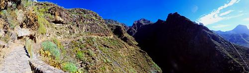 start into the Barranco del Infierno_pan
