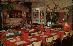Shangri-La, Polynesian Restaurant, Burnaby, BC (SwellMap) Tags: postcard vintage retro pc chrome 50s 60s sixties fifties roadside midcentury populuxe atomicage nostalgia americana advertising coldwar suburbia consumer babyboomer kitsch spaceage design style googie architecture polynesian exotica polynesianpop hawaii hawaiiana bar cocktail tiki
