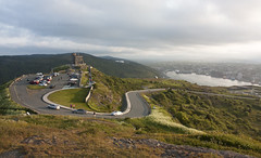 Landscape (Loops666) Tags: landscape signalhill stjohns cabottower road street mountain city sky misty summer grass greenery tourism