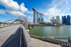 Sometimes Perfect (draken413o) Tags: singapore marina bay sands helix bridge cityscapes skyline skyscrapers urban places scenes asia travel destinations canon 5dmk4 17mm tilt shift architecture afternoon clouds wow