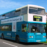 ARRIVA NORTH EAST 7216 D160FYM IS SEEN AT FRAMWELLGATE MOOR ON 1 JUNE 2005