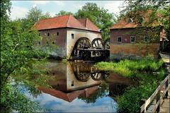 Watermolen Singraven (TeunisHaveman) Tags: architecture mills molens monument overijsel reflectie twenthe watermolen landscape landschap fietstochten panoramio501850479795394