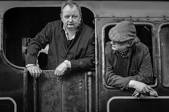 The Look (Saint Bez) Tags: bez bury steam monochrome elr history bw railway