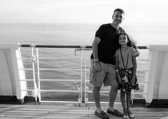 my little princess (-gregg-) Tags: daughter me cruise ocean bw rail