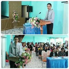 """วันนี้ดำเนินรายการ """"symposium  การจัดการศึกษาเรียนรวม สพม.42 """" ค้าบบ"""