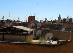 Receiving (melita_dennett) Tags: africa old city roof geometric architecture design town rooftops dish patterns satellite north el historic morocco moorish marrakech medina ornate fna jemaa djema elfna djemaa elfnaa