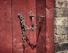 58/ windows & doors ~the sequel~ (s@ssyl@ssy) Tags: door shadow brick texture stone handle chain hss sliderssunday