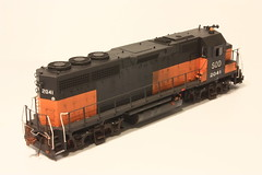 SOO 2041 RR (Set and Centered) Tags: road railroad chicago color scale electric train model 645 paint power diesel line company tsunami milwaukee sound co atlas electro weathered locomotive motive ho division patch bandit custom soo corp 187 job services 2010 tru nwi railroading emd tcp 2041 gp40 cmps superdetailed trucolor exmilw soundtraxx