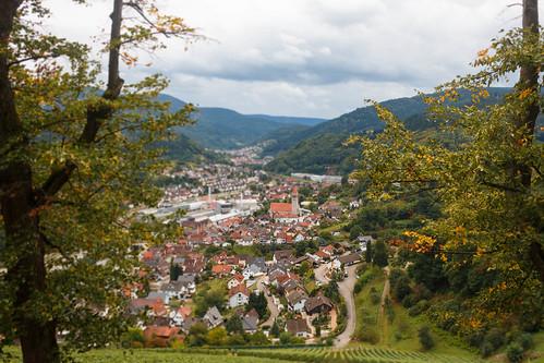 Vue sur Weisenbach depuis le château Eberstein