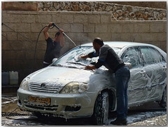 A car wash that is environmentally friendly... (Mike Goldberg) Tags: carwash friendly environment byhand hff mikegoldberg jerusalemvicinity panasonicfz35