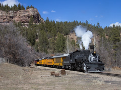 At Country Road 250 (Conrail4ever) Tags: mountains train colorado silverton trains steam gauge narrow durango engineer dsng k36