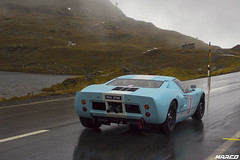 Gulf blue in the rain (Iceman_Mark) Tags: blue autumn alps classic ford switzerland climb gulf hill pass racing 1966 1960s v8 engadin motorsport granturismo gt40 livery bernina pontresina 2015 graubnden mk1 bergrennen jdclassics