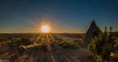 Sunset at Grand Canyon West (ZerroN) Tags: road arizona panorama sun mountains nature landscape highway grandcanyon natur dirty historic landschaft sonne wste skywalk hackberry