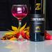 Stilleben - wine and leaves