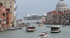 Vaporetti and cruise ship in Venice (marianramm) Tags: venice canals cruiseship vaporetti