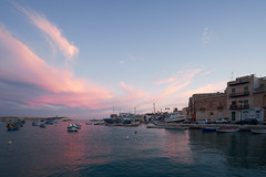 Twilight in Marsaxlokk (JarHTC) Tags: sunset sea landscape boats twilight harbour fujifilm xe2 samyang12mm