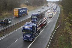 Photo of M74 INTAKE TRANSPORT FX65 KME SCANIA R580 V8 AND YJ63 OAD MERCEDES ACTROS MP4