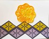Quilled card 1 made and given by friend Amihan Abueva (tengds) Tags: white yellow friend purple card papercraft quilling handmadecard tengds ethnicmotif