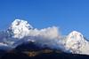 Annapurna South 7219m, Hiunchuli 6441m (Poxxel) Tags: nepal tadapani annapurnasouth hiunchuli