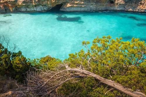 View of the bay at Calo des Moro, Mallorca (Spain)