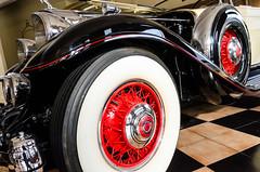 Murphy bodied Packard (GmanViz) Tags: color detail car wheel 1932 nikon automobile tire fender chrome spare murphy whitewall packard twinsix gmanviz d7000 model906convertiblesedan
