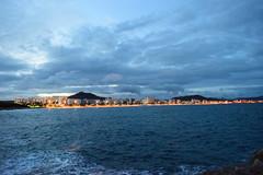 Cala Millor (sanchomik) Tags: paisaje playa mar calamillor cala millor hotel luces noche olas badia paseo maritimo
