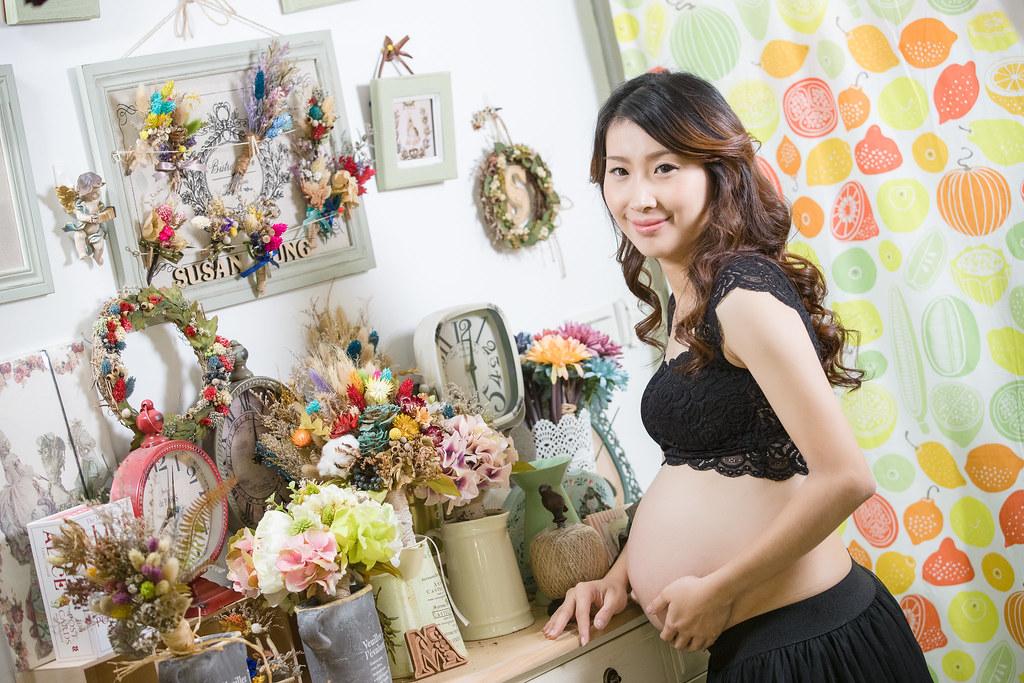 孕婦寫真,孕婦攝影,孕婦棚拍,婚攝卡樂,161217筱琪28