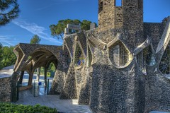 Gaudi's church in Colonia Güell. Santa Coloma de Cervelló. Catalonia. (ithyrsus) Tags: nikon d5200 photoshop photomatix churchs iglesia gaudí cataluña spain