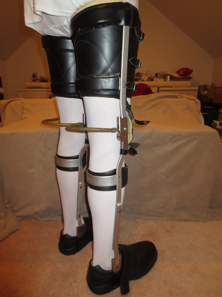 Orthopedic brace fetish
