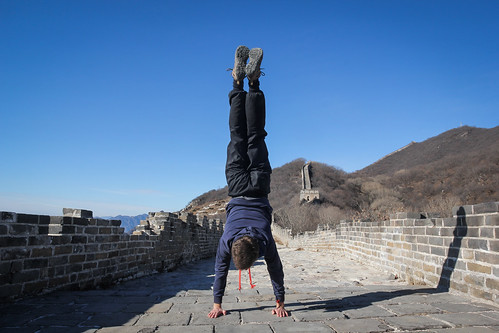 Handstand on the Great Wall