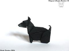 Origami Simple Terrier 1.2 - Barth Dunkan (Magic Fingaz) Tags: barthdunkan dog origami origamidog perro chien hund 犬 狗 개