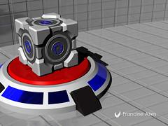 Portal's Cube (Frantynni) Tags: produtos design rafe criatividade 3d ufrgs desenho modelagem render sketch products creativity drawing modeling
