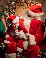 Joy- December 5, 2016 (zachary.locks) Tags: baby christmas claus cy365 each finding happy holidays infant jack joy lap looking other santa santas sitting smile son suit zlocks