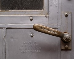 Metal Door Handle (Photographs By Wade) Tags: okmulgee oklahoma alley door doorhandle metal iron steel secure