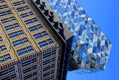 Antwerp Harbour House, Belgium (ClaDae) Tags: antwerpharbourhouse belgium antwerpen antwerp belgique architecture buildings modern old blue stone glass europe harbour design britishiraqi architect zahahadid urban city street