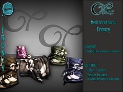 "Mesh Wrist Wrap ""Fronzy"" V#4 Camo (..:: OPOPOP Design ::..) Tags: opopop hud colors cam bandana unisex bracelet secondlife wrist wrapped"