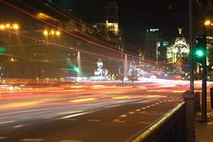 Noche en Madrid (Tiger's transports) Tags: madrid gran via alcalá cibeles nocturna larga exposición navidad