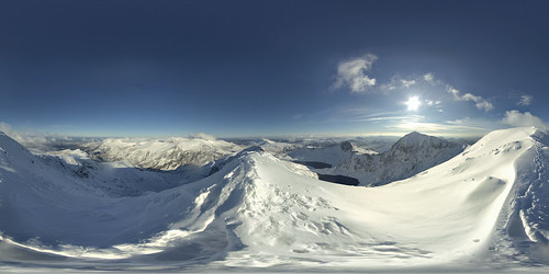 Garnedd Ugain - view of Snowdon