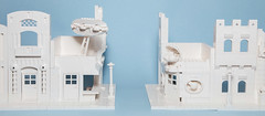 Backdrop Buildings (Galaktek) Tags: galaktek lego architecture minifig white foitsop