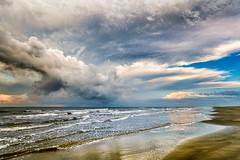 Touch the Ocean (Adam Kyle Jackson) Tags: ocean gulf gulfofmexico gulfcoast texas houston galveston beach beaches thunderstorm storm sunrise sunrises sunset sunsets dawn dusk water shoreline seaside coastline coast