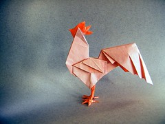 Rooster - 212moving (Rui.Roda) Tags: origami papiroflexia papierfalten hahn galo gallo coq rooster 212moving